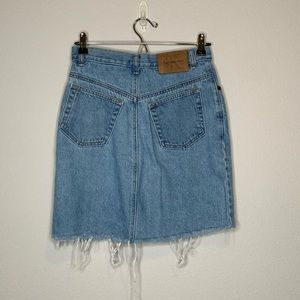 Vintage Calvin Klein Denim jean Mini Skirt size 7